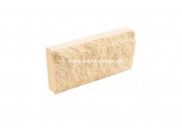 Цокольная плитка скала рваный камень лимон Владимир