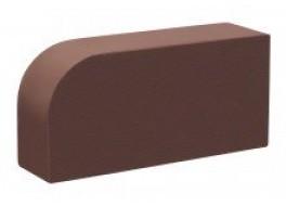 Кирпич печной лицевой полнотелый тёмный шоколад радиусный r60 М 300 КС-Керамик