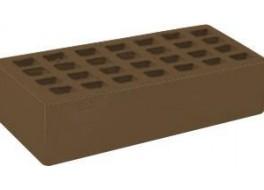 Кирпич одинарный облицовочный М 200 темно-коричневый гладкий ЖКЗ
