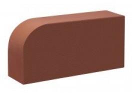 Кирпич печной лицевой полнотелый гляссе  радиусный r60 М 300 КС-Керамик