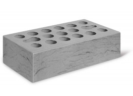 Кирпич одинарный серебро рустик лицевой М 150 КЕРМА