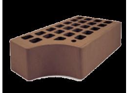Кирпич полуторный облицовочный темно-коричневый гладкий фасонный кф-1 М 200 ЖКЗ