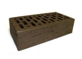 Кирпич одинарный облицовочный коричневый риф М 150 BRAER