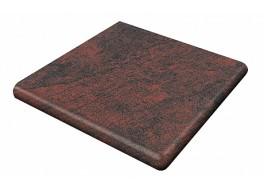 Клинкерная угловая ступень-флорентинер Gres Aragon Jasper Rojo, 330x330x18(53) мм
