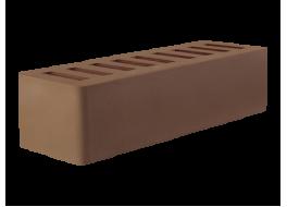 Кирпич облицовочный евро коричневый гладкий М 200 Осмибт