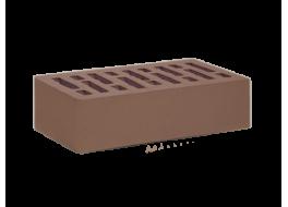 Кирпич облицовочный одинарный коричневый гладкий М 200 Осмибт