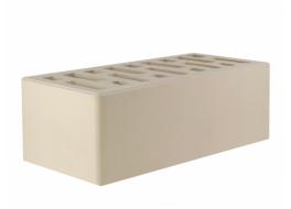 Кирпич облицовочный полуторный белый гладкий М 175-200 Осмибт