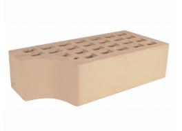 Кирпич одинарный облицовочный слоновая кость гладкий фасонный кф-1 М 200 ЖКЗ