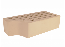 Кирпич полуторный облицовочный слоновая кость гладкий фасонный кф-1 М 200 ЖКЗ