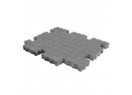 Тротуарная плитка Волна, Серый, h=60 мм