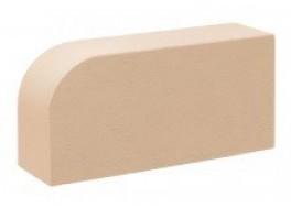 Кирпич печной лицевой полнотелый лотос радиусный r60 М 300 КС-Керамик