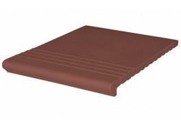 Клинкерная ступень венецианская рифленая King Klinker 03 Natural brown, 330x245x14 мм