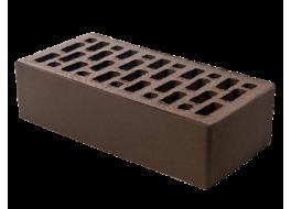 Кирпич облицовочный одинарный коричневый гладкий М 150 BRAER