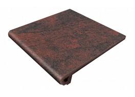 Клинкерная ступень-флорентинер Gres Aragon Jasper Rojo, 330x325x18(53) мм