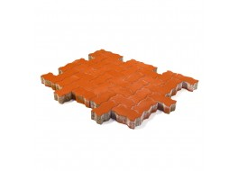 Тротуарная плитка Волна, Красный, h=60 мм