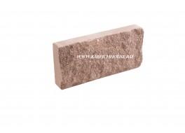 Цокольная плитка скала рваный камень терракот Владимир