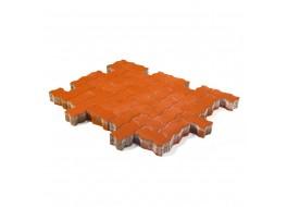 Тротуарная плитка Волна, Красный, h=80 мм