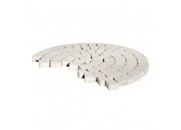 Тротуарная плитка Классико круговая, Белый, h=60 мм