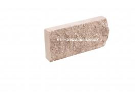 Цокольная плитка скала рваный камень коричневая Владимир