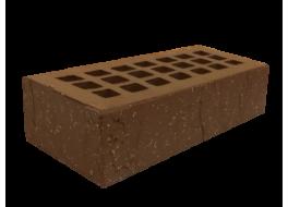 Кирпич одинарный облицовочный М 200 темно-коричневый скала-торкрет ЖКЗ