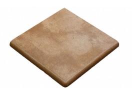 Клинкерная угловая ступень-флорентинер Gres Aragon Mytho Tierra, 330x330x18(53) мм